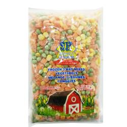 SH frozen 3-way mixed vegetables / 混合蔬菜 - 750g