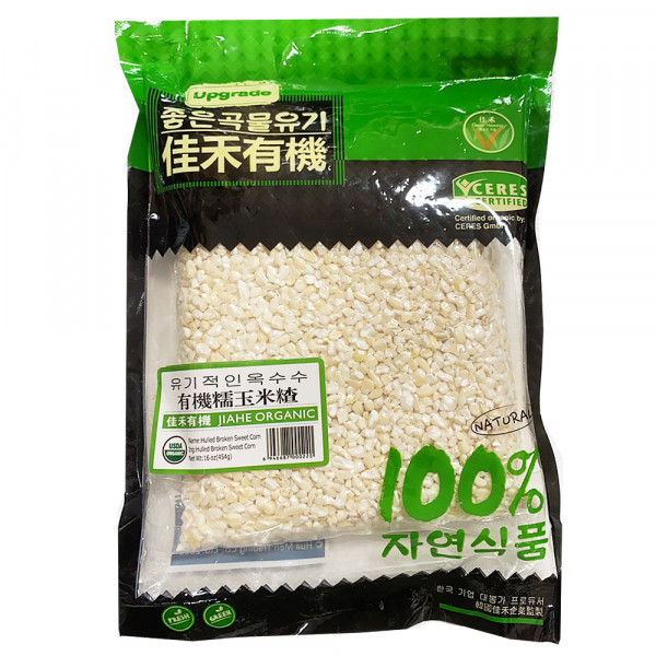 JiaHe Organic hulled broken sweet corn / 佳禾有机玉米渣- 454g