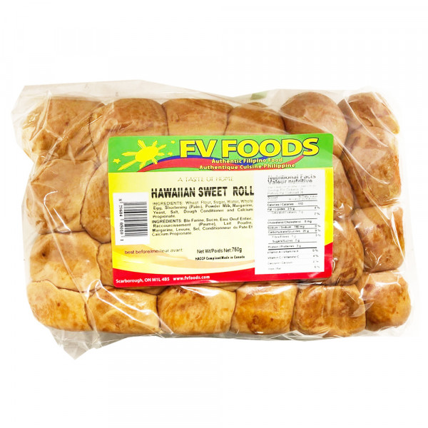FV Foods Hawaiian Sweet Roll /  夏威夷甜卷面包 - 750g