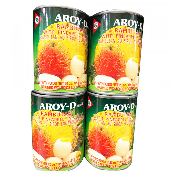 Aroy-D Rambutan with Pineapple in Syrup / 红毛丹菠萝罐头 -565g