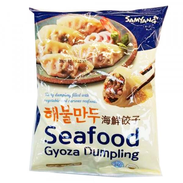 Samyang Seafood Gyoza Dumpling / 海鲜饺子 - 500g