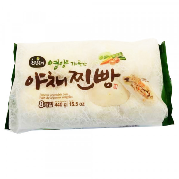 Frozen Vegetable Bun / 韩国蔬菜包 - 440g