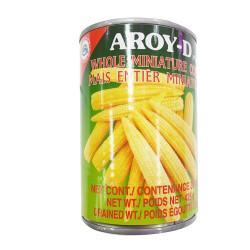 Aroy-D Whole Miniature Corn  / 整个玉米笋罐头 -425g