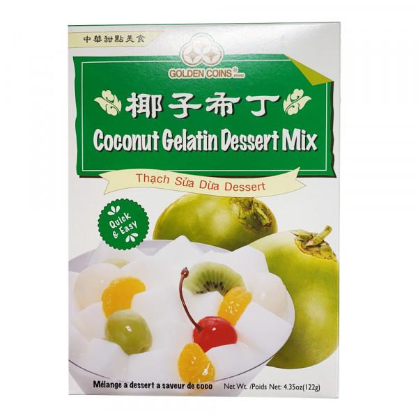 Golden Coins  Coconut Gelatin Dessert Mix / 椰子布丁 - 122g