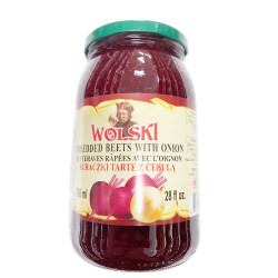 Wolski Shredded Beets with Onion / 腌碎甜菜 -796ml