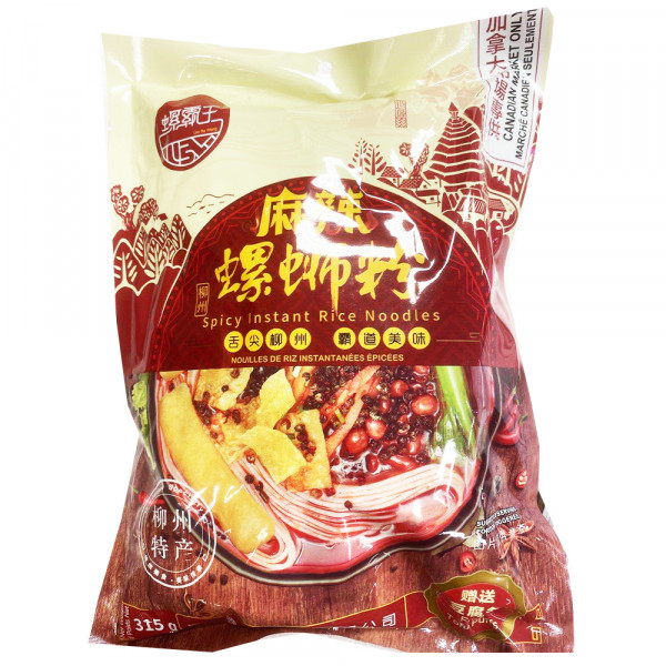 LuoBaWang Spicy Instant Rice Noodles / 螺霸王麻辣螺蛳粉 - 315g