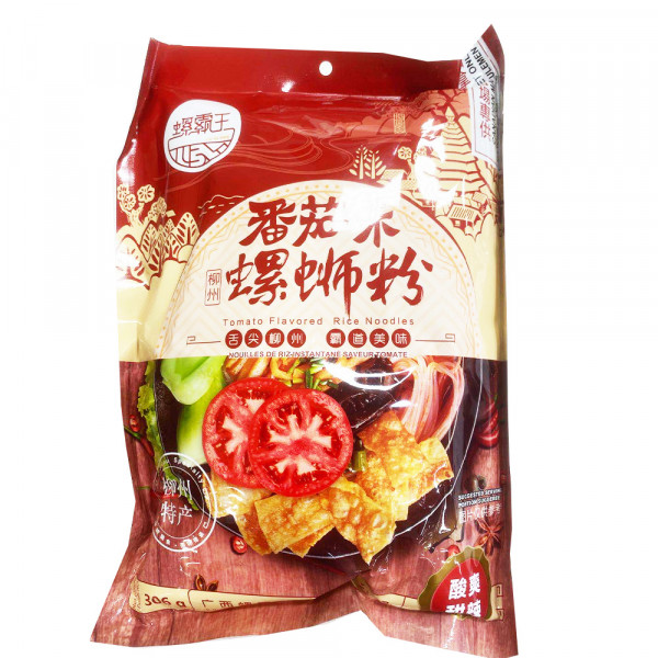 LuoBaWang Tomato Flavored Instant Rice Noodles / 螺霸王蕃茄味螺蛳粉 - 306g