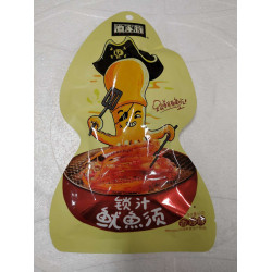 YuJiaWeng Squid(Spicy) / 渔家翁锁汁鱿鱼须 (香辣味)- 60g