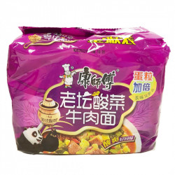 KangShiFu Sauerkraut Beef Noodles / 康师傅老坛酸菜牛肉面 -  5 Pcs