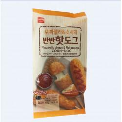 Mozzdrella Cheese & Fish Sausage Corn-Dog / 脆皮芝士鱼肉肠热狗 - 400g