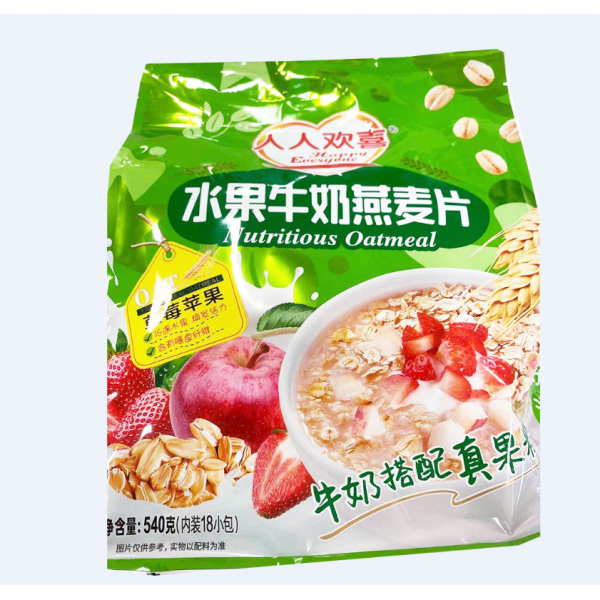 Nutritious Oatmeal / 水果牛奶燕麦片之草莓苹果 - 540g