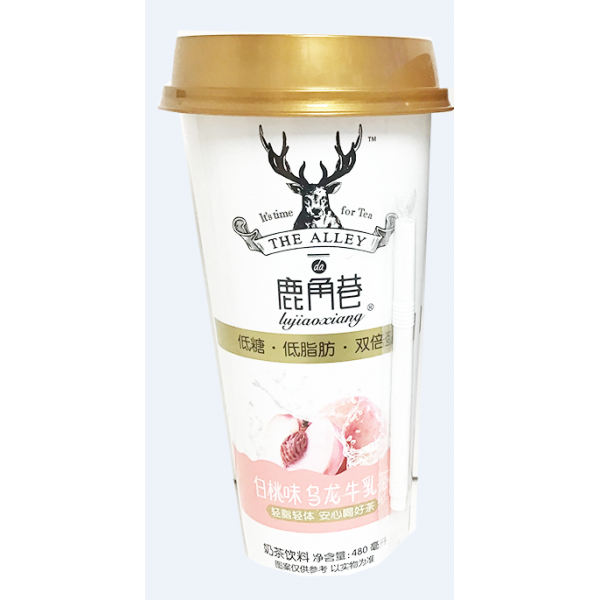 Tea Alley - Milk Tea ( Peach Oolong) / 鹿角巷奶茶 -  白桃乌龙牛乳茶