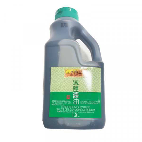 LKK Less Sodium Soy Sauce /  李锦记减盐酱油 - 1.9 L