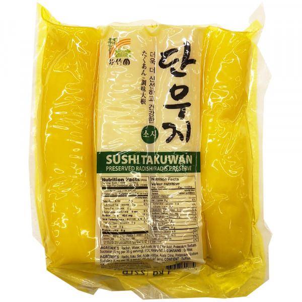 Preserved radish Sushi takuwan / 韩国寿司腌萝卜