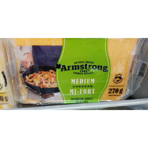 Armstrong Medium Cheddar / Medium 奶酪 - 270g