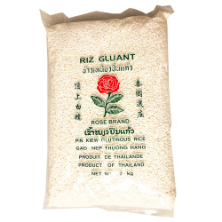 Rose Brand Pin Kiew Glutinous Rice / 玫瑰牌顶上白糯米- 2kg