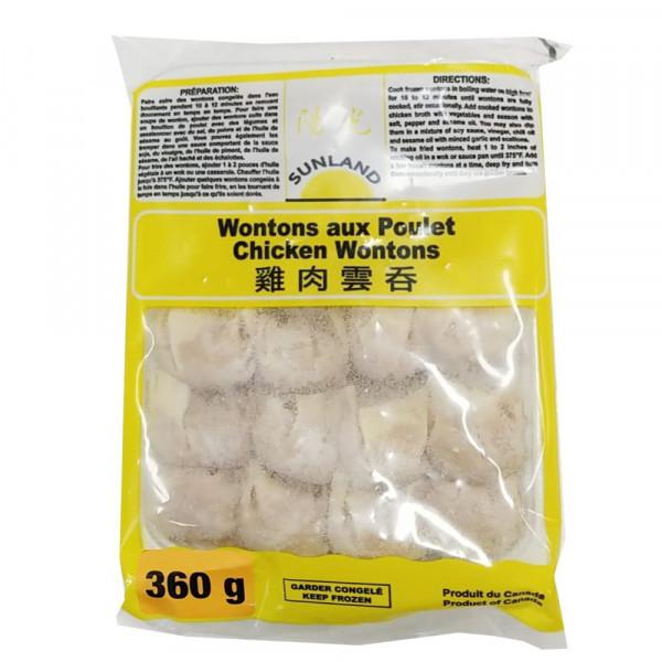 Sunland Chicken Wontons / 阳光牌鸡肉云吞360 g