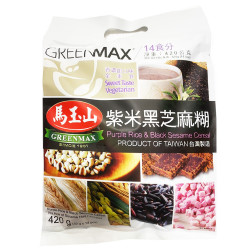 GreenMax Purple Rice&Black Sesame Cereal / 马玉山紫米黑芝麻糊 - 14*30 g