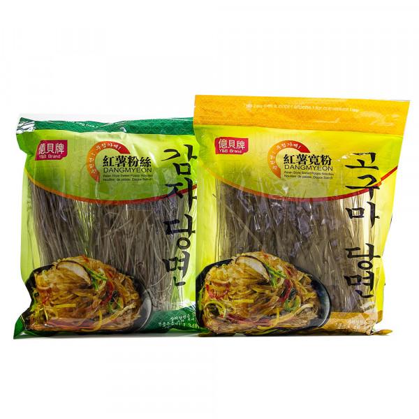 Asian Style Sweet Potato Noodles DangMyeon / 红薯粉丝 / 红薯宽粉- 1.34 lbs
