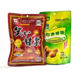 Roasted Ringent Chestnuts / 亚杰或亿贝牌笑口甘栗 - 200g