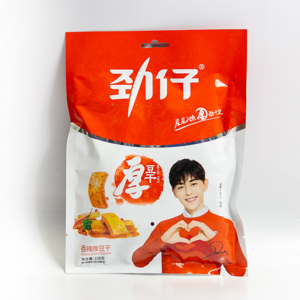 Jinzai Dried tofu chili flavor /劲仔香辣厚豆干 108g