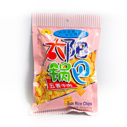 Sun Rice Chips - Five Spices Beef/ 太阳锅巴--五香牛肉口味  - 130 g
