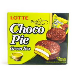 LOTTE Choco-pie Green Tea /巧克力派--绿茶味 336g