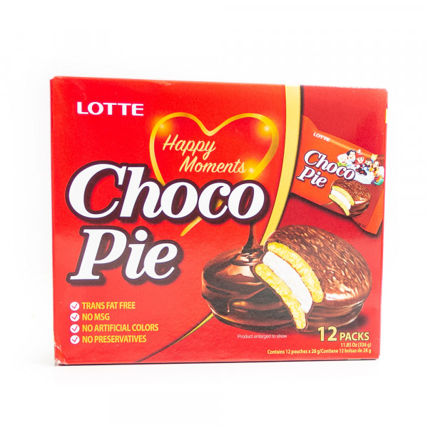 LOTTE Choco-pie Cacao /LOTTE 巧克力派 - 336g