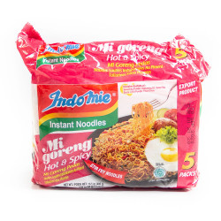 Indomie Hot and Spicy Instant Noodles /方便面之麻辣味- 80g X 5